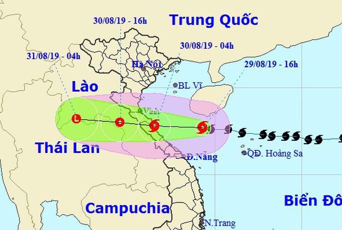 Bão số 4 giật cấp 11 đổ bộ Nghệ An - Quảng Bình sáng mai, gây mưa lớn - Ảnh 1.