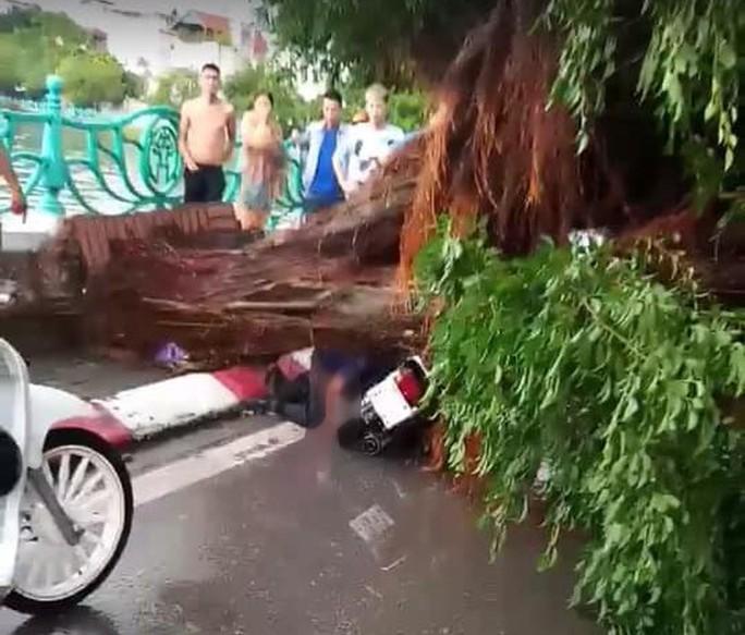 Ảnh hưởng bão số 4, Hà Nội mưa lớn làm đổ hàng loạt cây, 1 người chết - Ảnh 2.