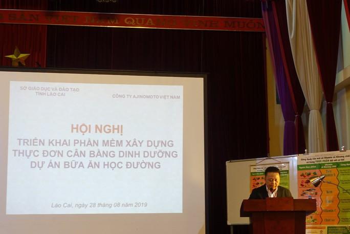 Lào Cai chuẩn hóa thực đơn bán trú bằng phần mềm - Ảnh 1.