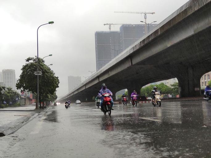 Hà Nội: Mưa rất to, cây cối đổ la liệt  do ảnh hưởng bão số 3 - Ảnh 5.