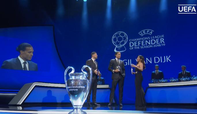 Van Dijk xuất sắc nhất châu Âu, Messi và Ronaldo lại thất bại - Ảnh 1.