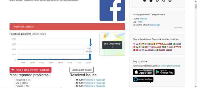Facebook bị lỗi, người dùng không post được gì - Ảnh 1.