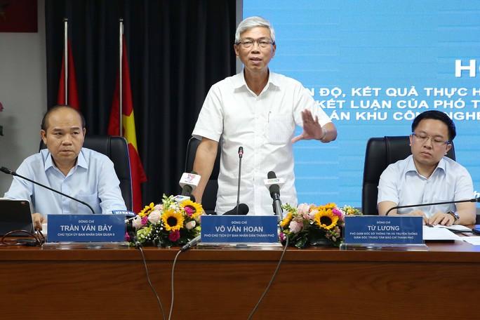 Họp báo công bố kết quả giải quyết khiếu nại, khiếu kiện ở Khu Công nghệ cao TP HCM - Ảnh 1.