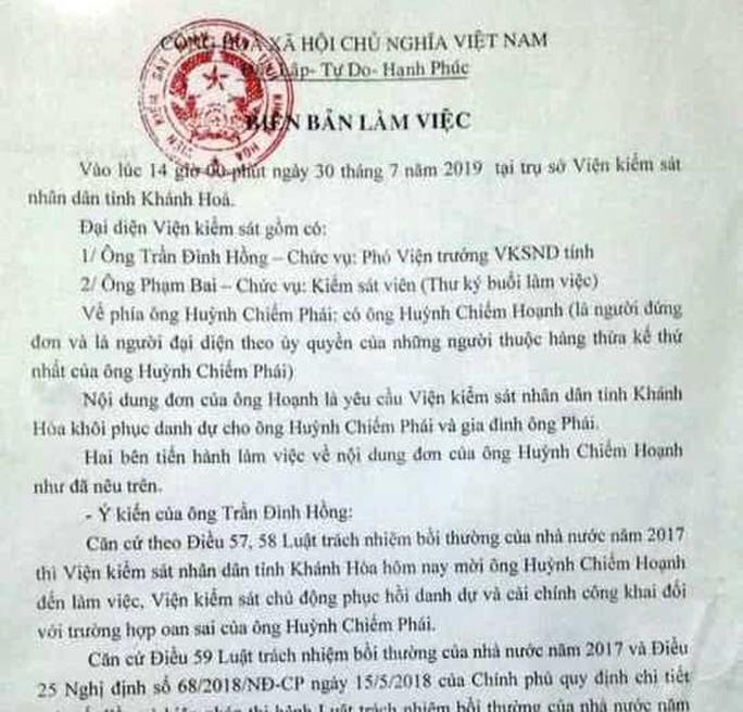 """Viện KSND Khánh Hòa xin lỗi gia đình người """"đến chết vẫn chưa được bồi thường oan sai"""" - Ảnh 3."""