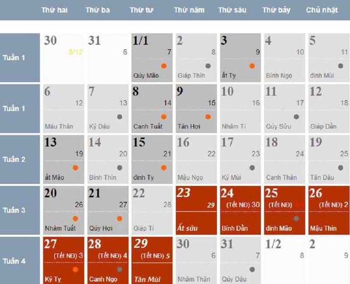 Chốt đề xuất lịch nghỉ Tết Nguyên đán Canh Tý 2020 - Ảnh 1.
