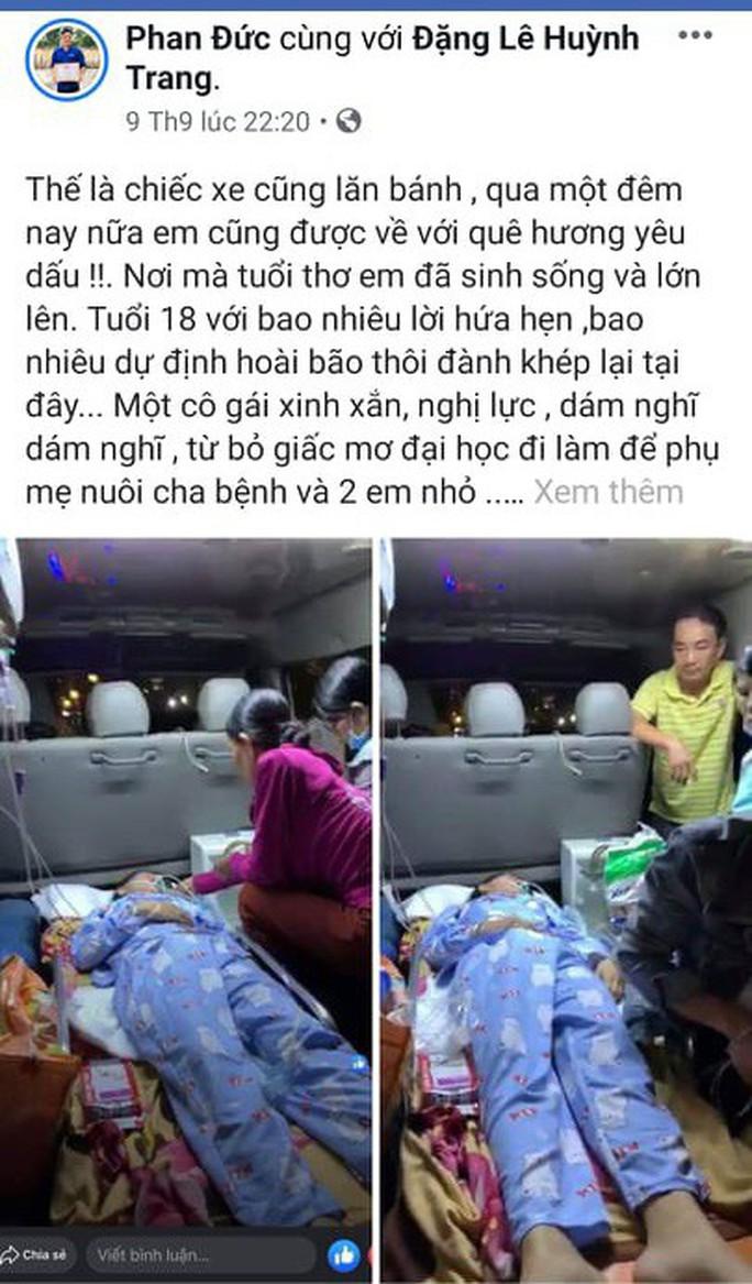 Bệnh viện trả về, cô gái trẻ ở Quảng Nam bất ngờ hồi tỉnh - Ảnh 4.