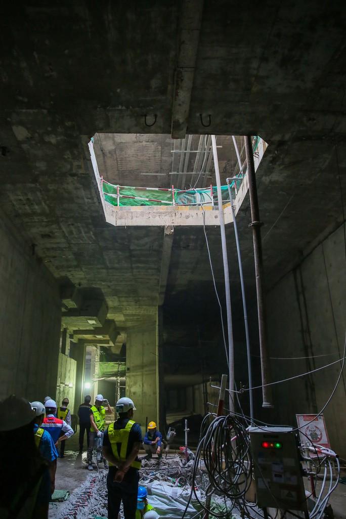 Diện mạo đường hầm Metro số 1 tại trung tâm TP HCM - Ảnh 8.