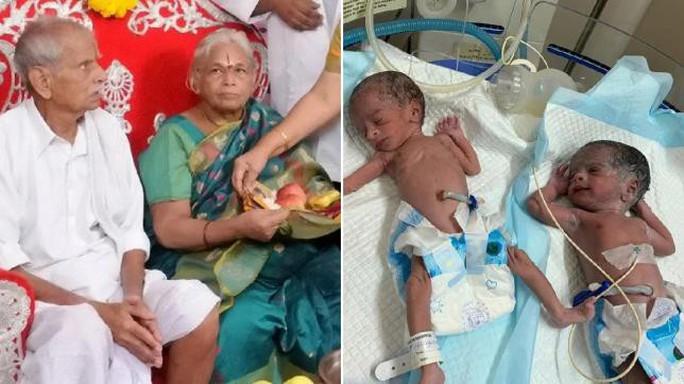 Vừa mới sinh đôi, cha mẹ già nhất thế giới nhập viện - Ảnh 2.