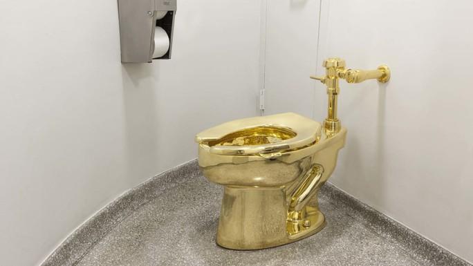 Bồn cầu bằng vàng bị đánh cắp ngay trong phòng trưng bày - Ảnh 1.