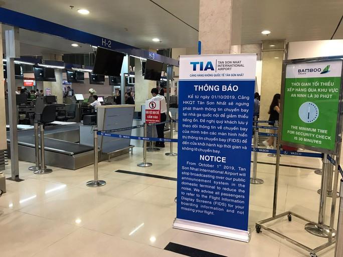Sân bay Tân Sơn Nhất bỏ toàn bộ loa phường - Ảnh 1.