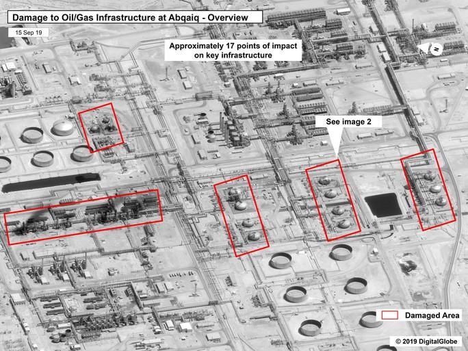 Lộ bằng chứng Iran tấn công nhà máy dầu Ả Rập Saudi? - Ảnh 1.