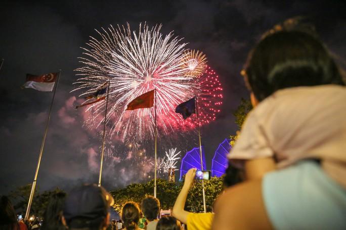Pháo hoa rực rỡ trên bầu trời TP HCM mừng Quốc khánh 2-9 - Ảnh 6.