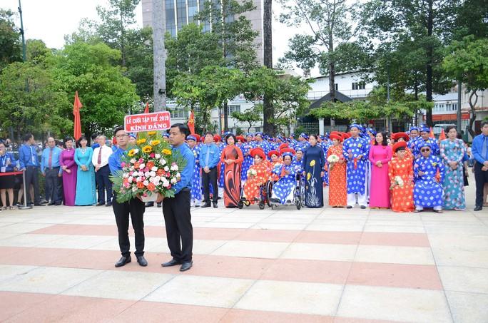 Ấm áp lễ cưới tập thể của 100 đôi công nhân trong Ngày Quốc Khánh - Ảnh 6.