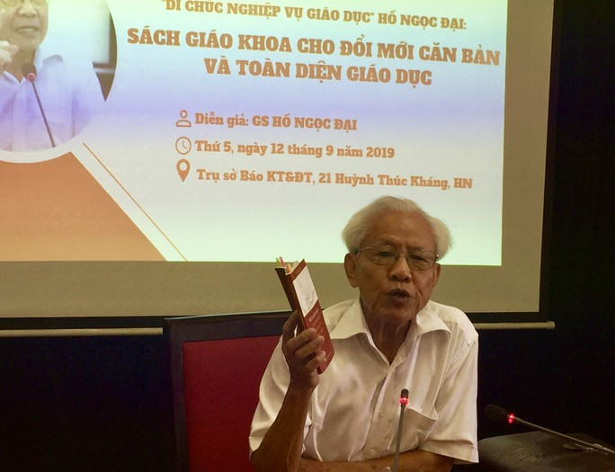 Bộ GD-ĐT phản hồi thế nào về kiến nghị SGK Công nghệ giáo dục của GS Hồ Ngọc Đại? - Ảnh 2.