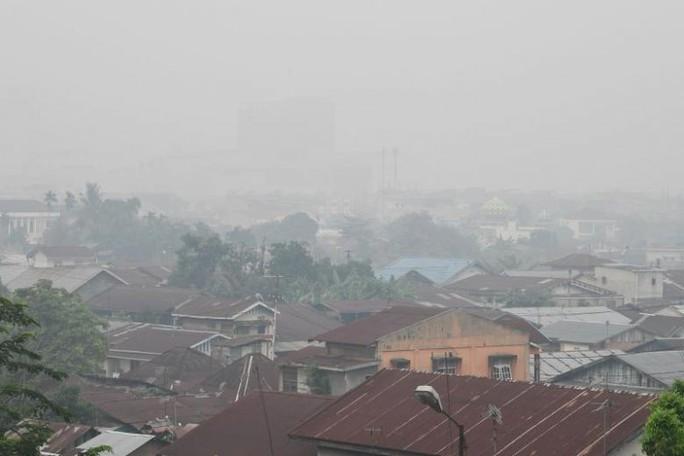 Indonesia mịt mù khói bụi, máy bay cất cánh dù tầm nhìn hạn chế - Ảnh 3.