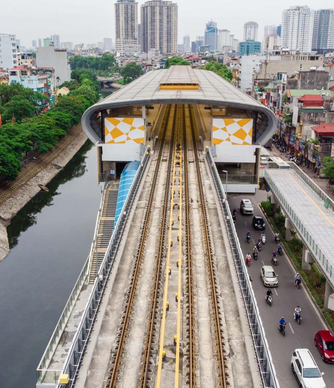 Cận cảnh đường sắt Cát Linh-Hà Đông tiến độ kiểu rùa bò hơn thập kỷ - Ảnh 2.