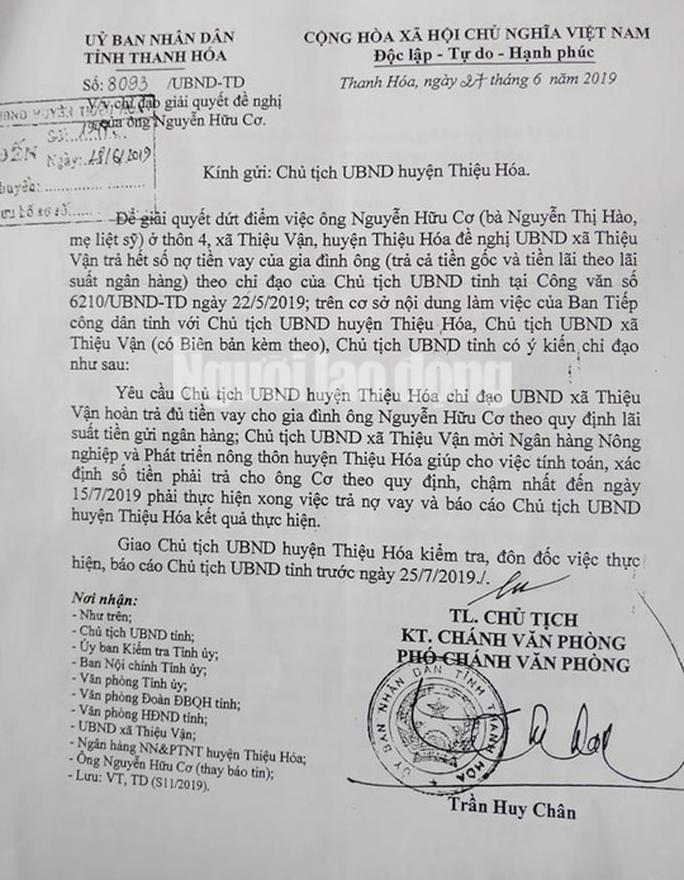 Chủ tịch tỉnh Thanh Hóa chỉ đạo trả nợ cho dân, xã vẫn chưa trả - Ảnh 2.