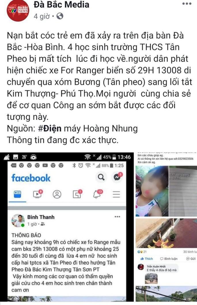 Công an lên tiếng về thông tin 4 nữ sinh bị bắt cóc đưa lên xe biển số Hà Nội - Ảnh 1.