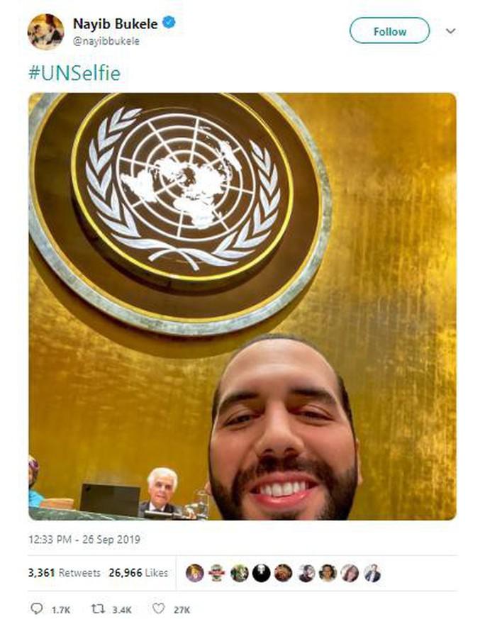 Tổng thống El Salvador chụp ảnh tự sướng tại Liên Hiệp Quốc - Ảnh 3.