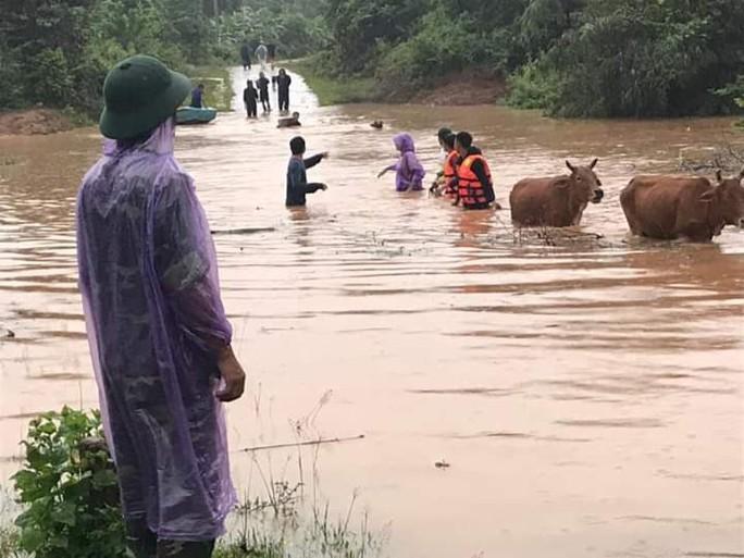 Quảng Trị: Mưa lớn khiến nhiều vùng bị nước dâng chia cắt - Ảnh 1.