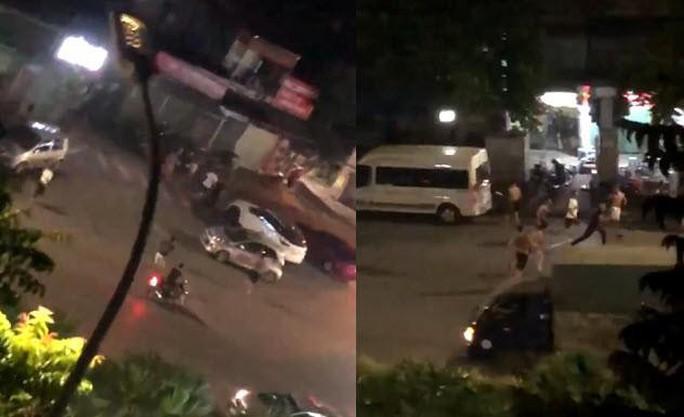 Clip: 2 nhóm dùng hàng nóng hỗn chiến náo loạn khu phố - Ảnh 2.
