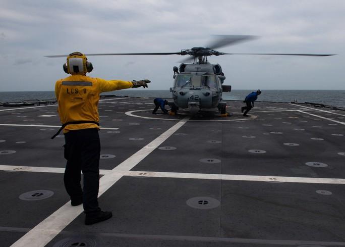 Hình ảnh tàu Hải quân Việt Nam tham gia cuộc Diễn tập hải quân ASEAN - Mỹ - Ảnh 5.
