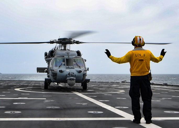 Hình ảnh tàu Hải quân Việt Nam tham gia cuộc Diễn tập hải quân ASEAN - Mỹ - Ảnh 4.