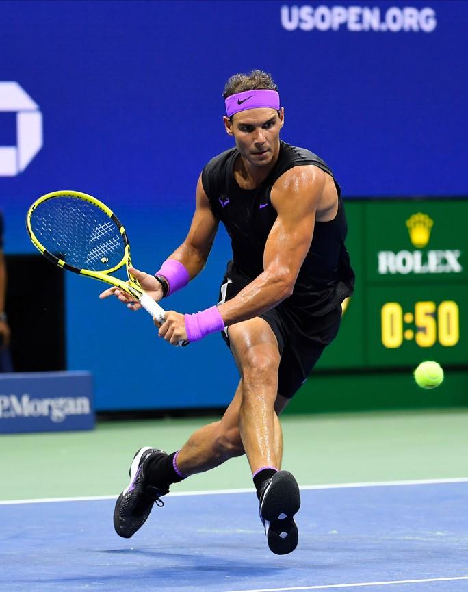 Clip Nadal mạnh mẽ quật ngã đối thủ, vào bán kết US Open 2019 - Ảnh 4.