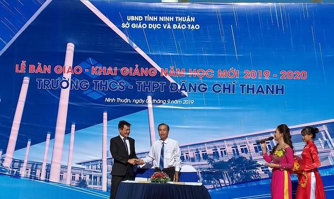 Trungnam Group bàn giao ngôi trường 45 tỉ đồng cho Ninh Thuận trong ngày khai giảng - Ảnh 3.