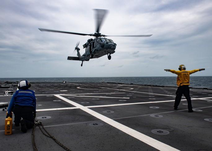 Hình ảnh tàu Hải quân Việt Nam tham gia cuộc Diễn tập hải quân ASEAN - Mỹ - Ảnh 3.