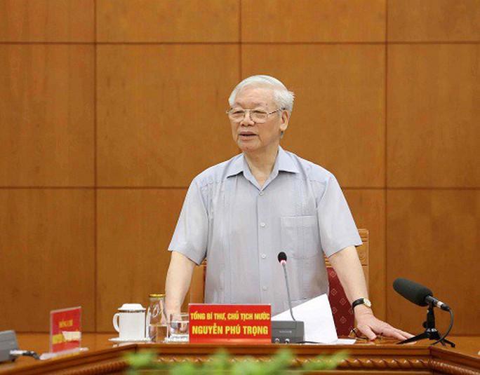 Tổng Bí thư, Chủ tịch nước nêu hàng loạt câu hỏi khi chủ trì cuộc họp Tiểu ban Văn kiện Đại hội Đảng XIII - Ảnh 1.