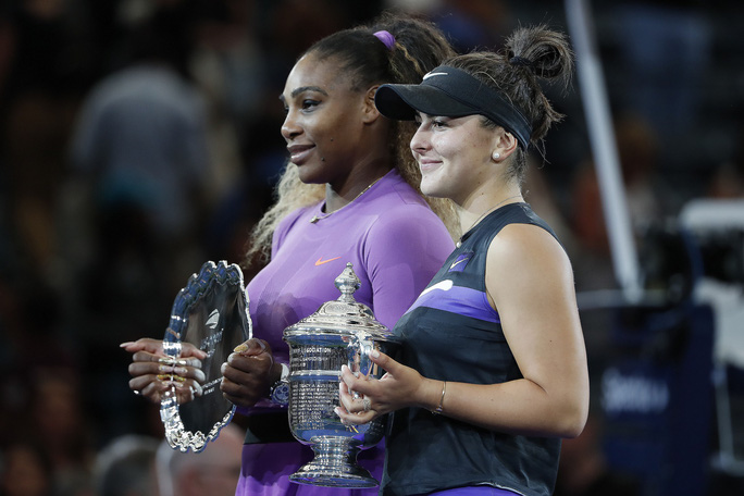 Clip: Serena Williams thua sốc tay vợt 19 tuổi ở chung kết US Open - Ảnh 5.