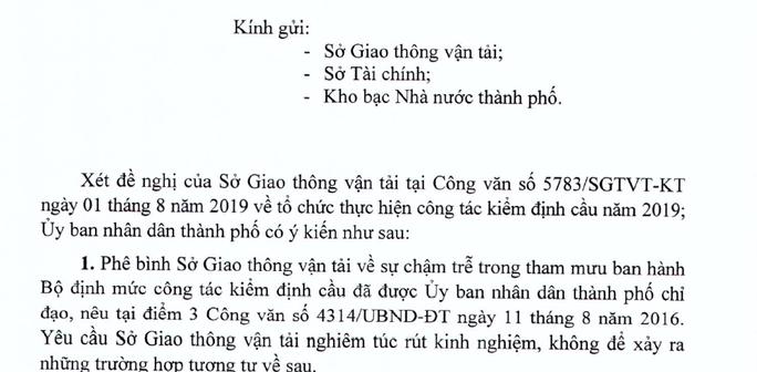 UBND TP HCM phê bình Sở GTVT - Ảnh 1.