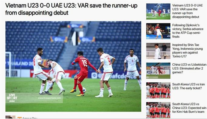 Báo chí châu Á cho rằng U23 Việt Nam thoát thua nhờ VAR - Ảnh 4.