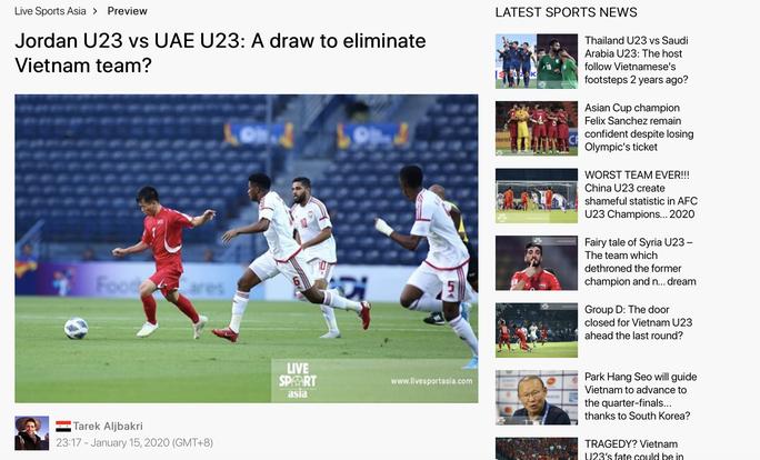 UAE và Jordan từng cố tình hòa có bàn thắng ở U23 châu Á - Ảnh 1.