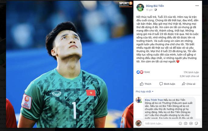 Người đại diện của Bùi Tiến Dũng lại bị chỉ trích khi ủng hộ thủ môn U23 Việt Nam không xin lỗi CĐV - Ảnh 1.