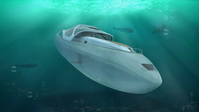 Sắp đến thời của siêu du thuyền lai tàu ngầm - Ảnh 1.
