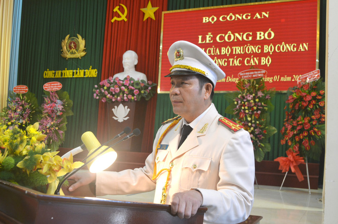 Điều động phó giám đốc Công an Đắk Nông làm giám đốc Công an Lâm Đồng - Ảnh 1.