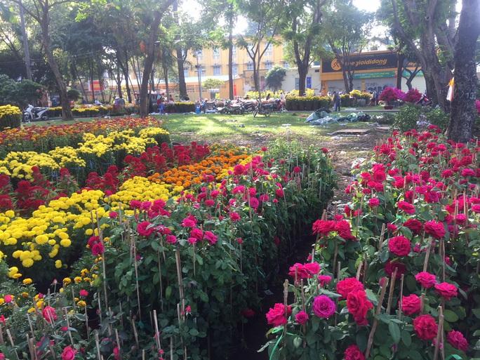 Chen nhau mua hoa giảm giá sáng 30 Tết, hàng chục gốc đào xứ Bắc bị bỏ lại ở chợ hoa - Ảnh 10.