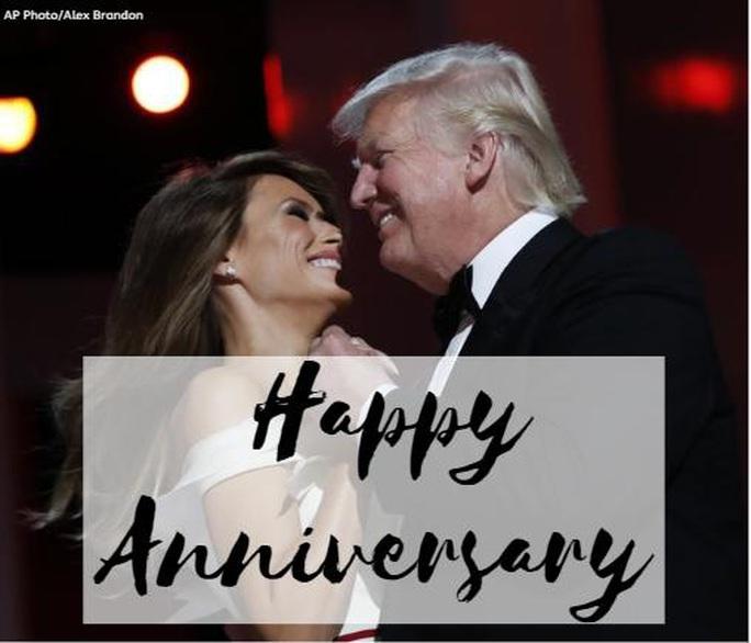 Kỷ niệm 15 năm ngày cưới Tổng thống Donald Trump và đệ nhất phu nhân Melania - Ảnh 3.