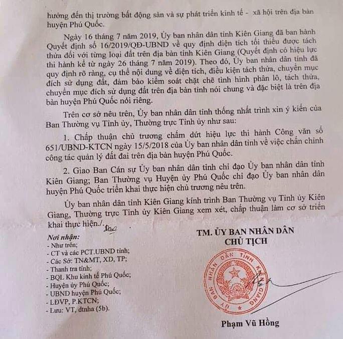Kiên Giang xin chủ trương bỏ lệnh tạm dừng phân lô, tách thửa ở Phú Quốc - Ảnh 2.