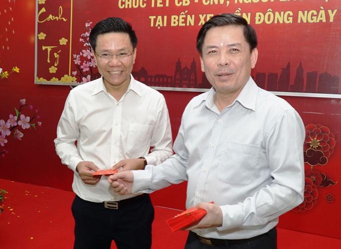 Bộ trưởng Bộ GTVT Nguyễn Văn Thể thăm, chúc Tết CBCNV Bến xe Miền Đông - Ảnh 5.
