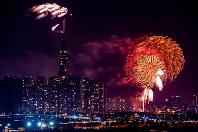 Rực rỡ, đặc sắc pháo hoa giao thừa chào đón năm mới - Ảnh 5.
