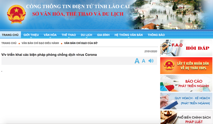 Phòng dịch Corona, Lào Cai tạm ngừng xuất, nhập cảnh khách du lịch qua cửa khẩu quốc tế - Ảnh 1.