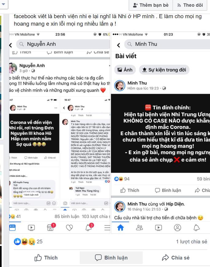 Truy tìm người đưa tin thất thiệt về bệnh do virus Corona trên facebook - Ảnh 1.