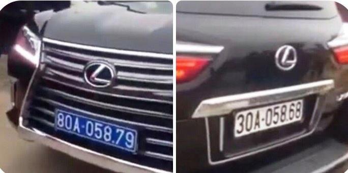 Vụ xe Lexus mang 2 biển kiểm soát: Biển màu trắng là giả - Ảnh 1.