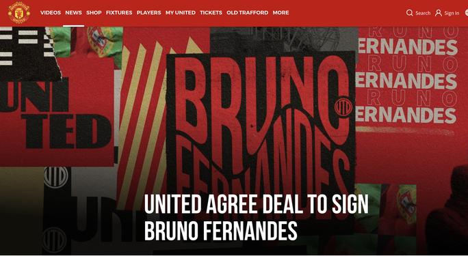 Bom tấn Bruno Fernandes gia nhập Man United - Ảnh 1.