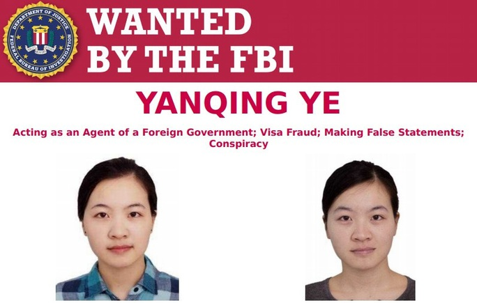 FBI truy nã công dân Trung Quốc làm gián điệp - Ảnh 1.