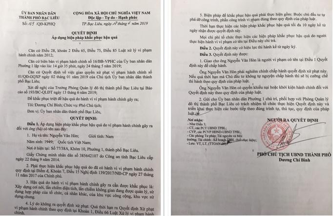 Quán nhậu Phúc Lộc Thọ ở Bạc Liêu ngang nhiên bao chiếm đất công  - Ảnh 3.