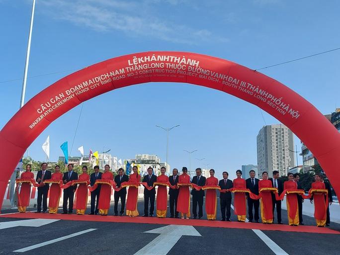 Khánh thành cầu cạn Mai Dịch - Nam Thăng Long trị giá 5.343 tỉ đồng - Ảnh 2.